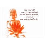 Postal de la cita de Buda Gautama