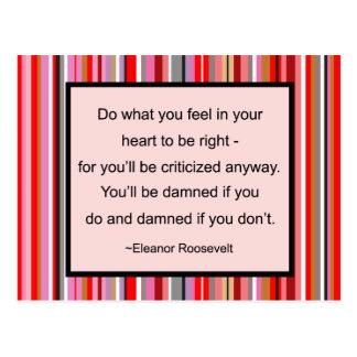 Postal de la cita de Eleanor Roosevelt