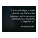 Postal de la cita de Galileo - sentido
