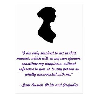 Postal de la cita de Jane Austen