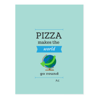 Postal de la cita de la pizza