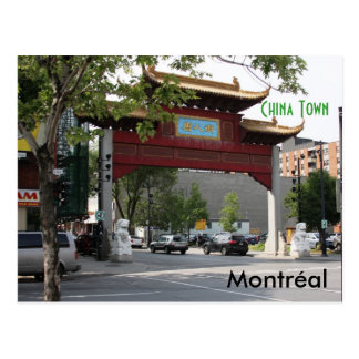Postal de la ciudad de Montreal China
