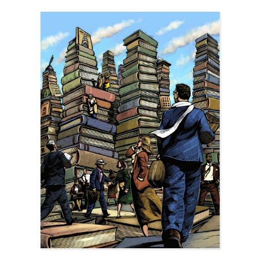 Postal de la ciudad del libro
