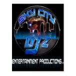 Postal de la ciudad DJ'Z del cielo