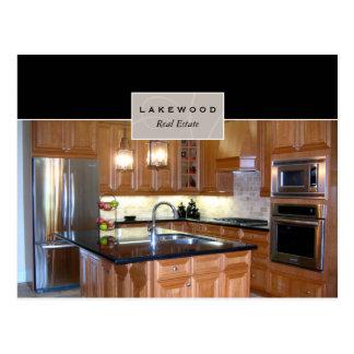 Postal de la cocina de las propiedades inmobiliari