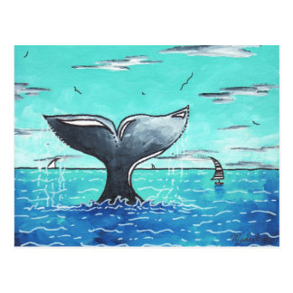 Postal de la cola de la ballena