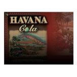 Postal de la cola de La Habana