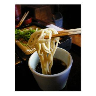 Postal de la comida de Japón