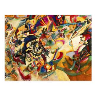 Postal de la composición VII de Kandinsky
