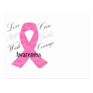 Postal de la conciencia del cáncer de pecho