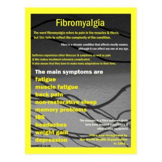 Postal de la conciencia del Fibromyalgia
