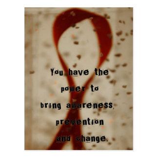 Postal de la conciencia del SIDA