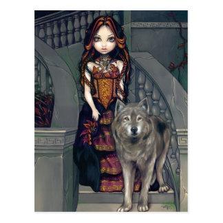 """""""Postal de la condesa del lobo"""""""