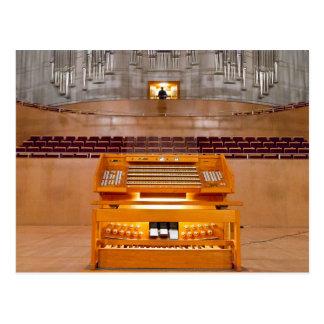 postal de la consola del órgano