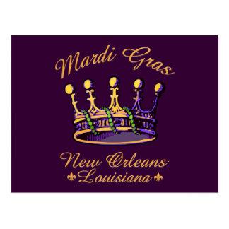 Postal de la corona del carnaval