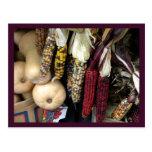 Postal de la cosecha del otoño del maíz indio