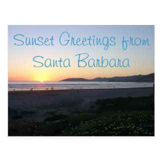Postal de la costa costa de California