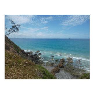 Postal de la costa costa de la bahía de Byron