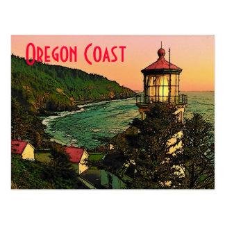 Postal de la costa de Oregon
