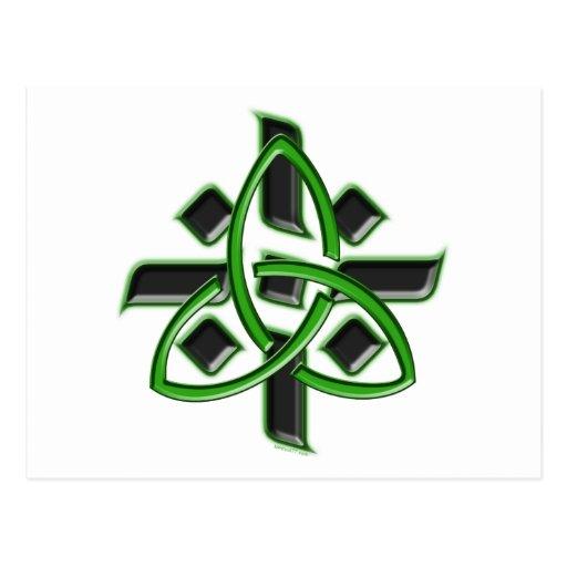 Postal de la cruz céltica