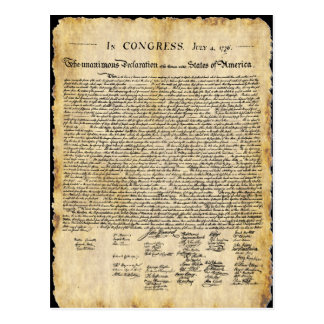 Postal de la Declaración de Independencia