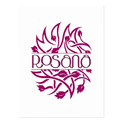 Postal de la decoración de Rosana Borgoña