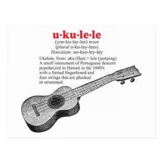 Postal de la definición del Ukulele