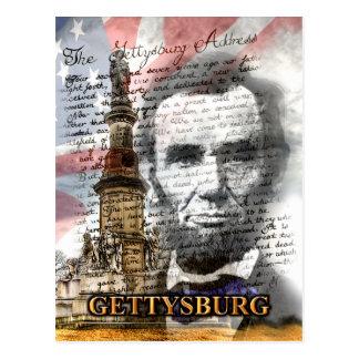 Postal de la dirección de Gettysburg