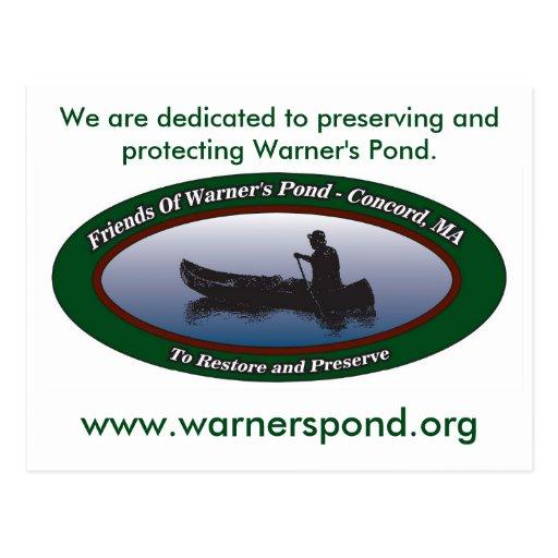 Postal de la donación de la charca de Warner