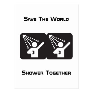 Postal de la ducha junto