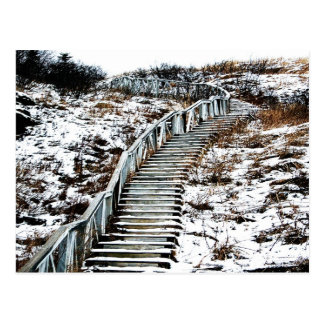 Postal de la escalera Nevado