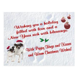 Postal de la escena de la nieve del navidad del fo
