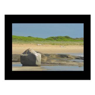 Postal de la escena de la playa