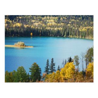 Postal de la escena del lago autumn