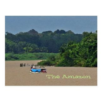 Postal de la escena del río Amazonas