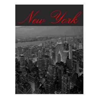 Postal de la escritura de Manhattan Nueva York