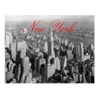 Postal de la escritura de New York City del