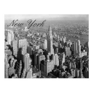 Postal de la escritura de New York City del vintag
