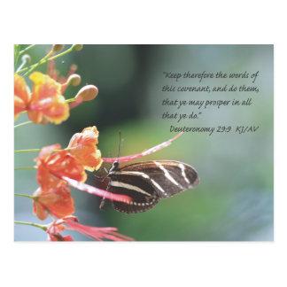 Postal de la escritura del 29:9 de Deuteronomy