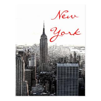 Postal de la escritura del arte pop de New York