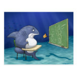Postal de la escuela del tiburón