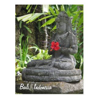 Postal de la estatua de Bali