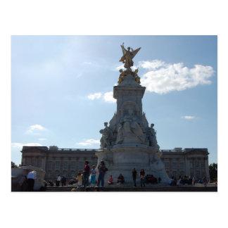 postal de la estatua de la reina Victoria