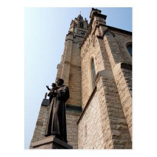 """""""Postal de la estatua de San Antonio"""" Postal"""