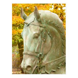 Postal de la estatua del caballo