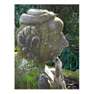 Postal de la estatua del hombre de la serpiente