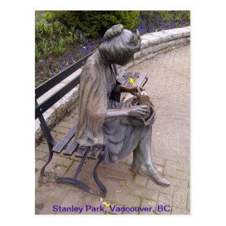 Postal de la estatua del parque de Stanley