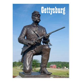 Postal de la estatua II de Gettysburg