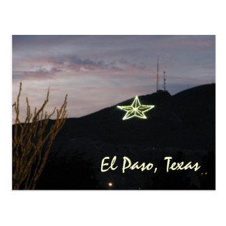 Postal de la estrella de El Paso