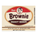 postal de la etiqueta de la cerveza de raíz del br